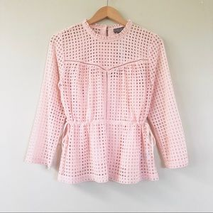 NWT J.Crew Point Sur Eyelet Top in Subtle Pink